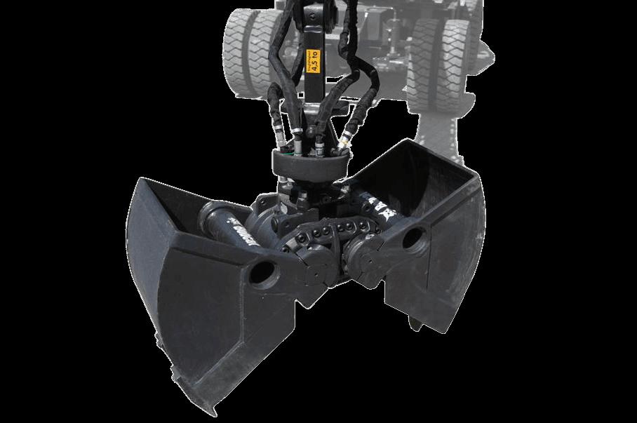 Bobcat Zweischalengreifer Anbaugerät für Minibagger und Kompaktbagger